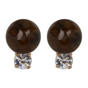 KATE SPADE Neutral In A Flash Beaded Stud Earrings